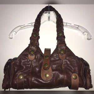 Chloe Silverado Brown Leather Shoulder Bag Purse